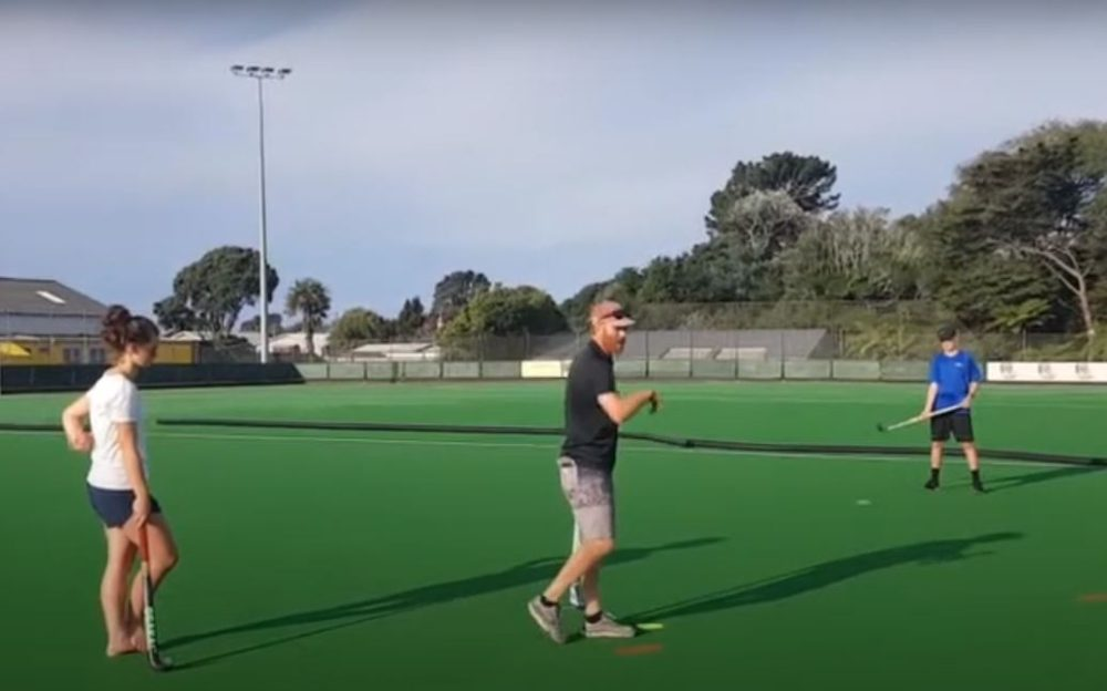 3-Player Open Receiving Drill for Hockey