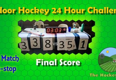 This indoor hockey game finished 351 to 338 and lasted for 24 hours!