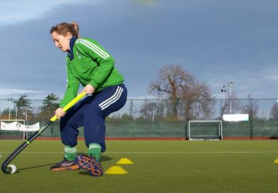 Hockey Drill: Face Forward Square – Improve your ball handling ability