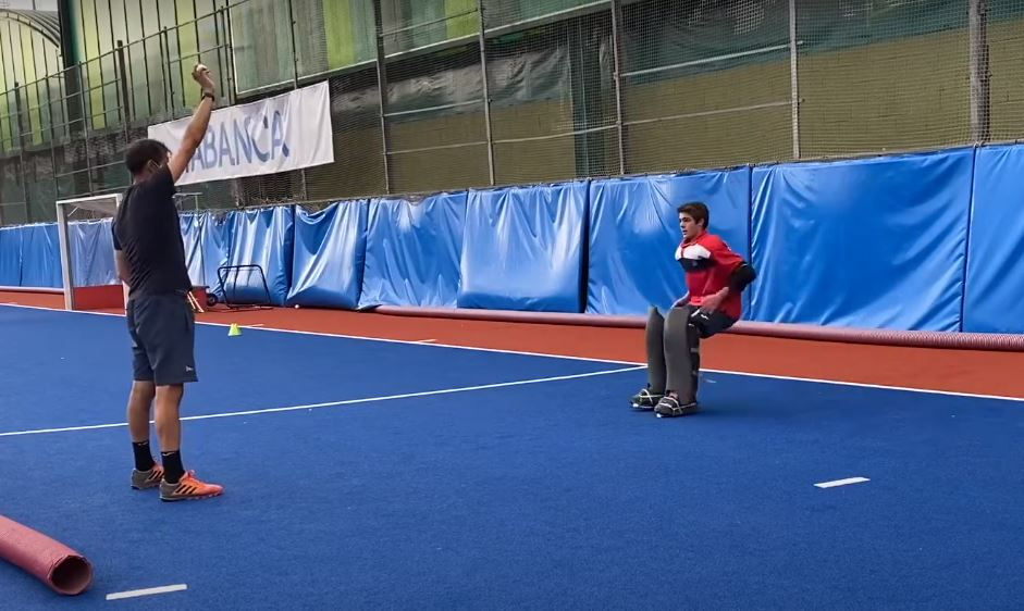 Full Hockey Goalkeeping Drill to Work on Agility, Change of Direction and Clearing Skills