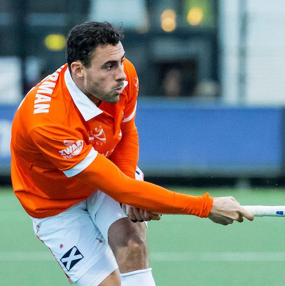 DEN BOSCH - Glenn Schuurman (Bloemendaal) tijdens de hoofdklasse hockeywedstrijd tussen de heren van Den Bosch en Bloemendaal (1-2). COPYRIGHT KOEN SUYK