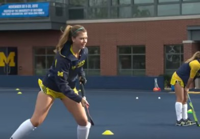 What is a day like in the life of a college hockey player at the Michigan University?