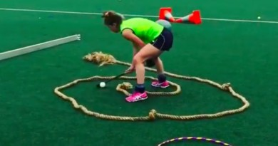 A fast drill to improve you ball handing while spinning, at least 5 times! Don't get dizzy!