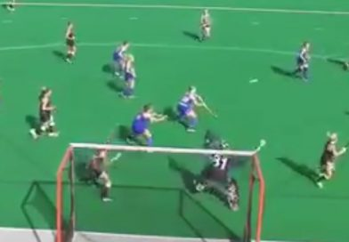 The best deflection goal of the year? Backwards-aerial-deflection for the Maryland Terps