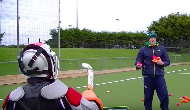field hockey goalkeeper