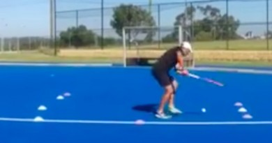 A drill to work on improving the first touch, receiving on the move, shooting and scoring!