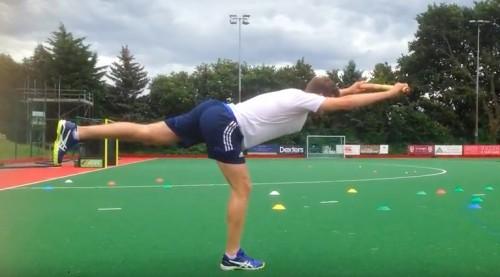 The T-Shape drill: strengthening your hamstrings for hockey!