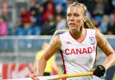 This is the Canadian goal scoring machine, Brienne Stairs! She used to play ice hockey but she made the switch!