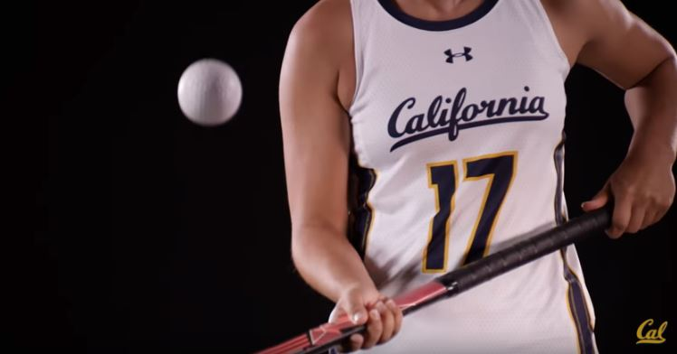 How cool is this new Under Armour uniform of the University of California field hockey team?