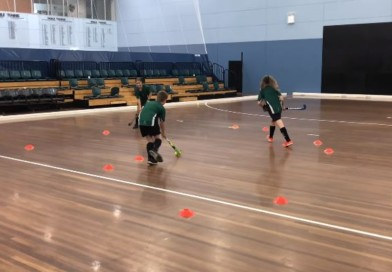 """Passing gates"": another very useful indoor drill where young players will learn to pass and move while they look up…"