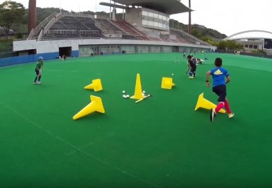 """One of the most fun and useful drills for kids that I have seen! Technical focus: """"looking before passing the ball"""""""