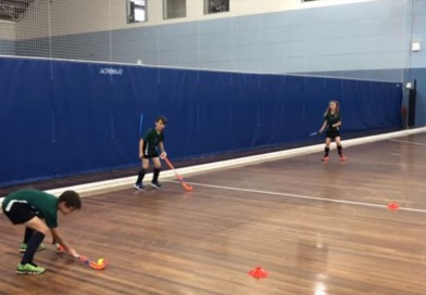 """""""Piggy in the Middle"""": a very fun passing drill for kids that will teach them the importance of the boards!"""