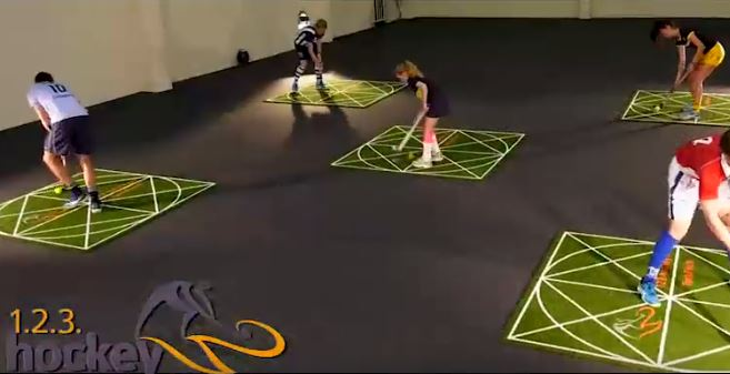 Improve your skills with this training mat! Follow the lines and become a better player!