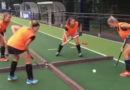 A 4-way hockey-tennis game! Challenge your teammates to this one!