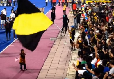 A young die-hard hockey fan leading the Ultra Malayas chants!